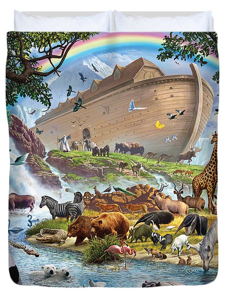 Noahs Ark - The Homecoming Duvet Cover by Steve Crisp