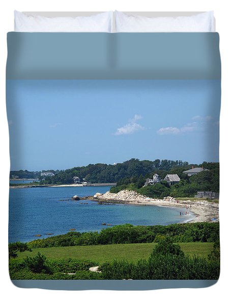 Nobska Beach Duvet Cover by Barbara McDevitt