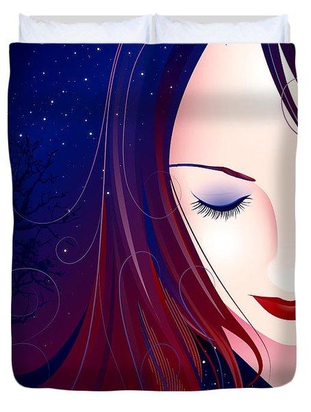 Nocturn II Duvet Cover by Sandra Hoefer