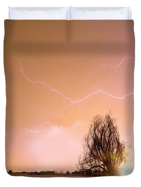 North Boulder County Colorado Lightning Strike Duvet Cover by James BO  Insogna