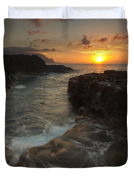 North Shore Paradise Duvet Cover by Mike  Dawson