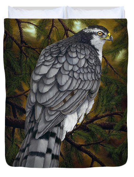 Northern Goshawk Duvet Cover by Rick Bainbridge