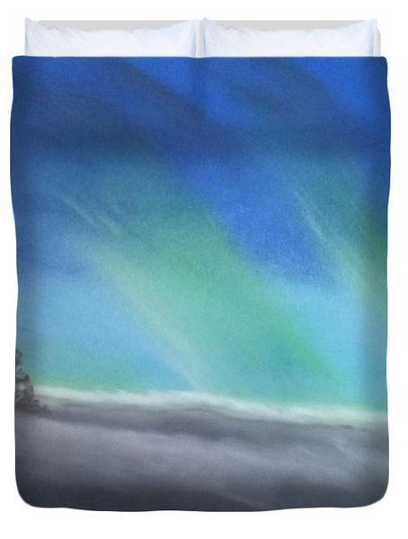 Northern Lights Duvet Cover by Tracey Williams