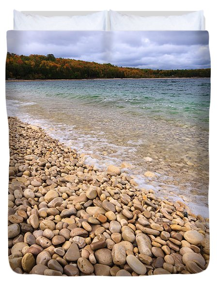 Northern Shores Duvet Cover by Adam Romanowicz