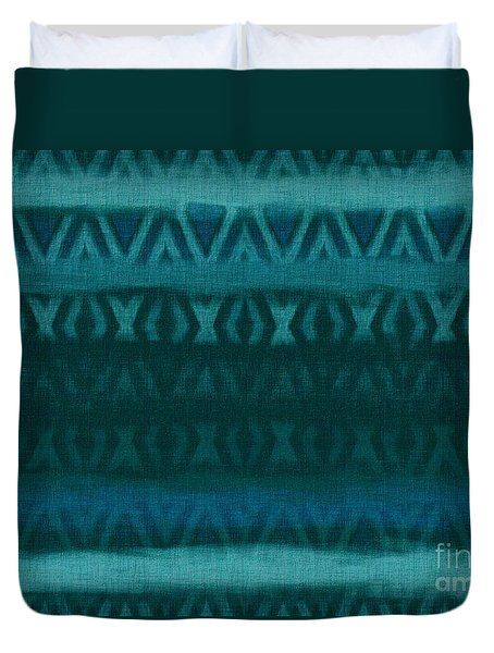 Northern Teal Weave Duvet Cover by CR Leyland