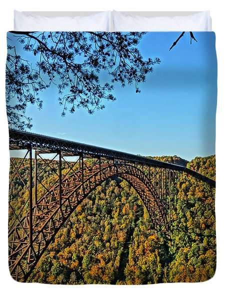 Northwest View Of Gorge Bridge Duvet Cover by Timothy Connard