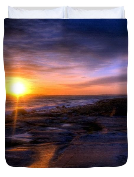 Norwegian Sunset Duvet Cover by Bruce Nutting