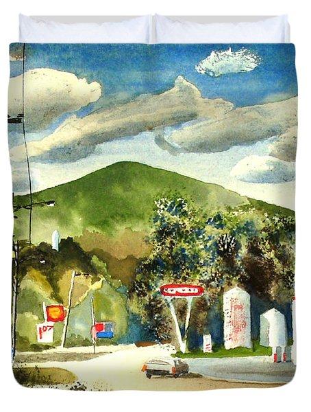 Nostalgia Arcadia Valley 1985 Duvet Cover by Kip DeVore