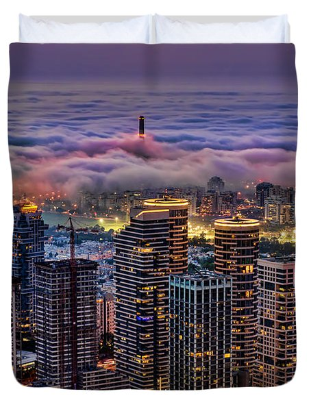 Not Hong Kong Duvet Cover by Ron Shoshani