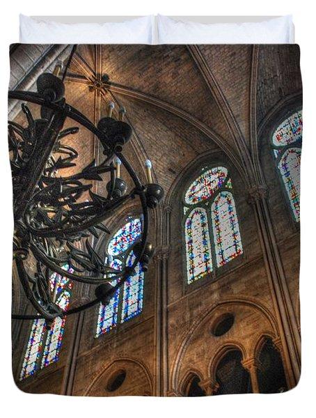 Notre Dame Interior Duvet Cover by Jennifer Lyon