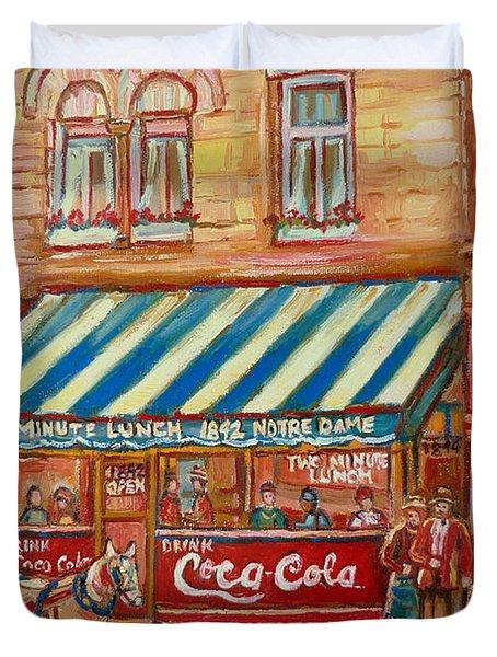 Notredame Circa 1940 Duvet Cover by Carole Spandau