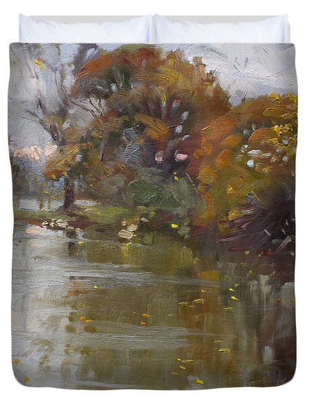November 4th At Hyde Park Duvet Cover by Ylli Haruni