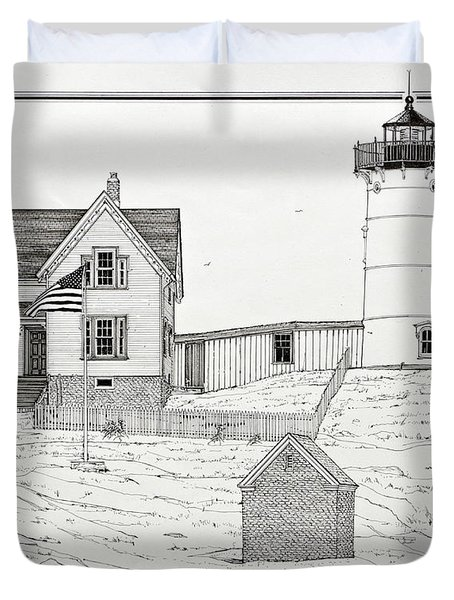 Nubble Light Duvet Cover by Ira Shander