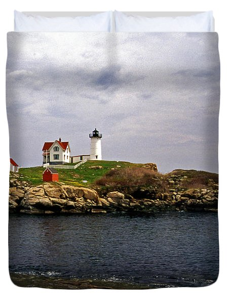 NUBLE LIGHTHOUSE Duvet Cover by Skip Willits