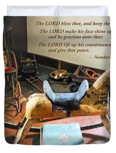 Numbers 6 24-26 The Lord Bless Thee And Keep Thee Duvet Cover by Susan Savad