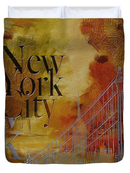 Ny City Collage - 6 Duvet Cover by Corporate Art Task Force