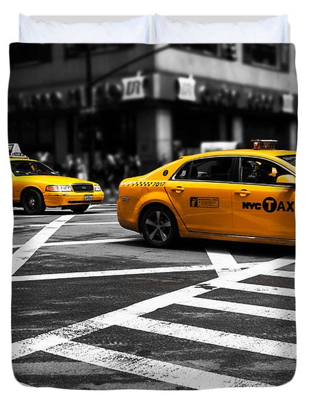 Nyc  Yellow Cab - Cki Duvet Cover by Hannes Cmarits