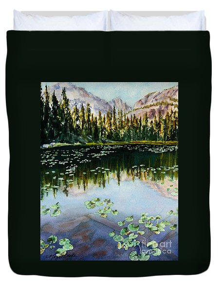 Nymph Lake Duvet Cover by Mary Benke