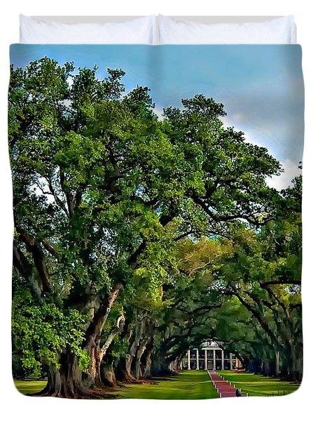 Oak Alley Plantation 2 Duvet Cover by Steve Harrington
