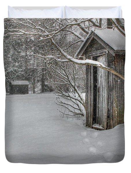 Occupied Duvet Cover by Lori Deiter