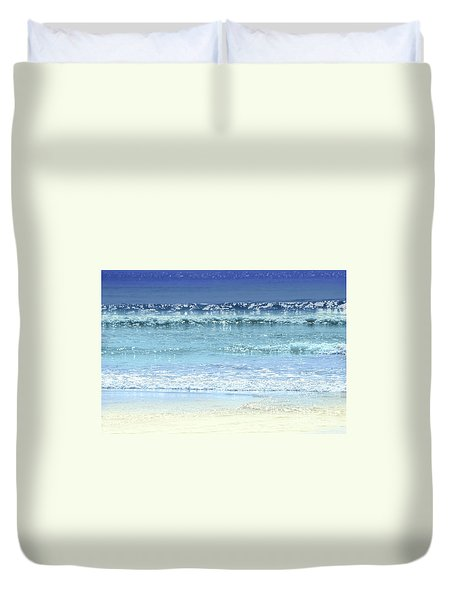 Ocean Colors Abstract Duvet Cover by Elena Elisseeva