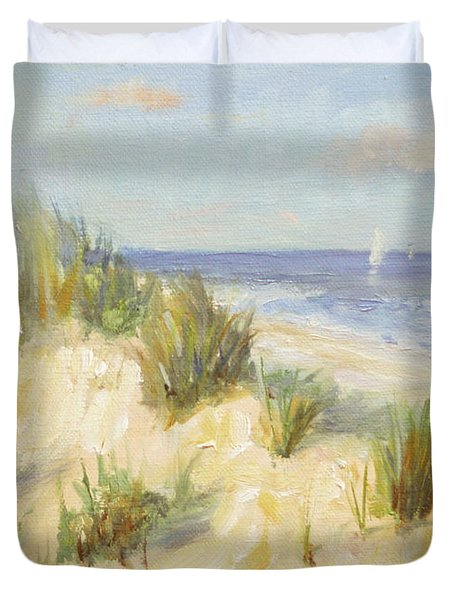 Ocean Dunes Duvet Cover by Sarah Parks