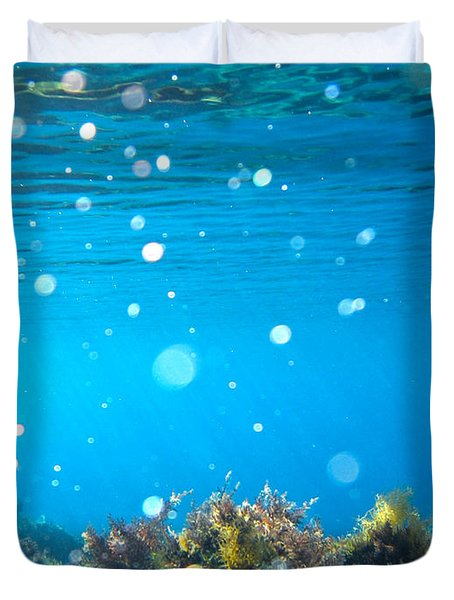 ocean garden Duvet Cover by Stylianos Kleanthous