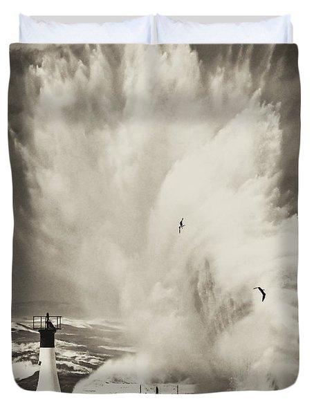 Ocean Motion Duvet Cover by Andrew  Hewett