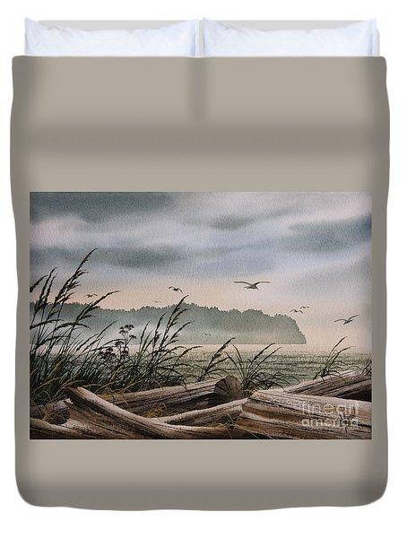 Ocean Shore Duvet Cover by James Williamson