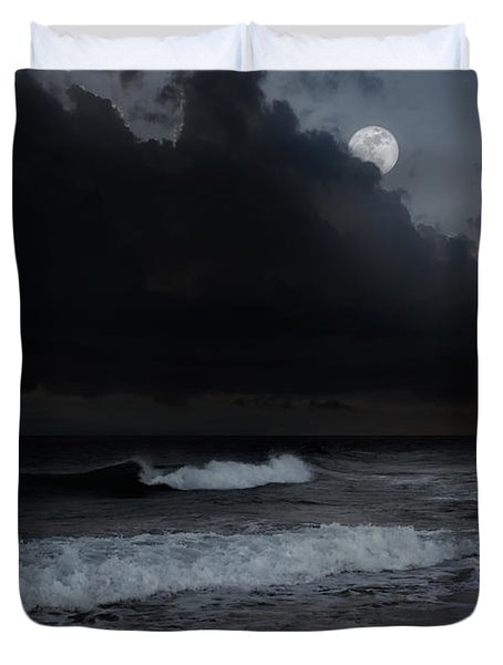 Ocean Storm Duvet Cover by Bill  Wakeley