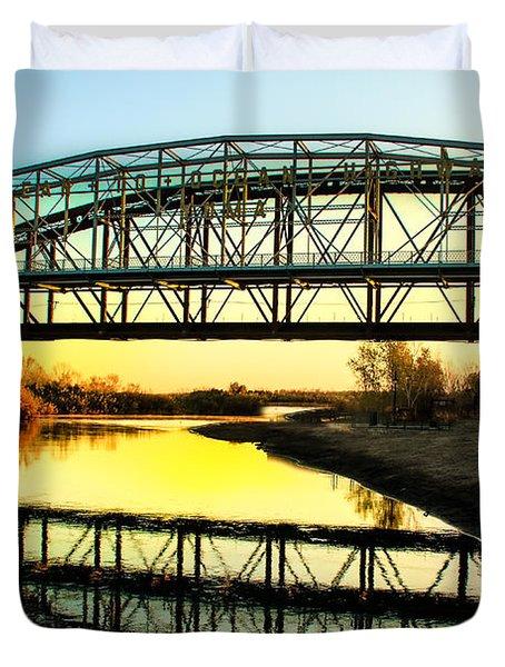 Ocean-to- Ocean Bridge Duvet Cover by Robert Bales