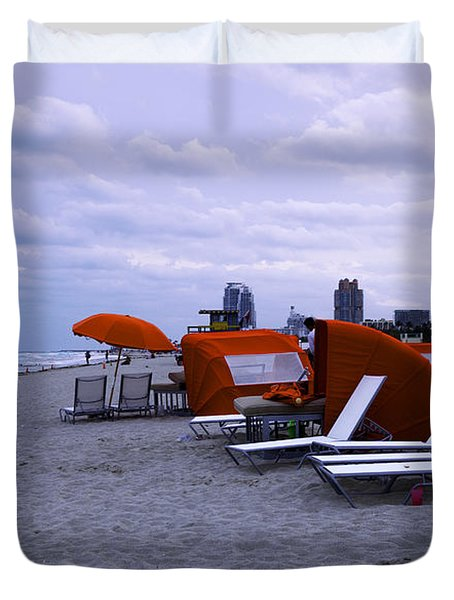 Ocean View 6 - Miami Beach - Florida Duvet Cover by Madeline Ellis
