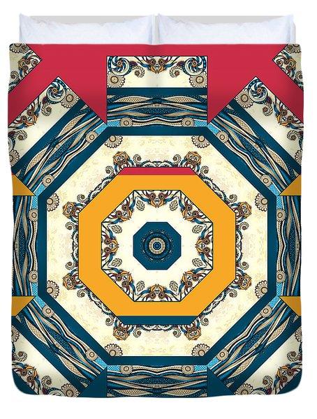 Ocean Waves Mandakal 01cm22 Duvet Cover by Aimelle