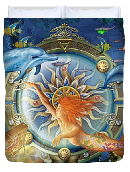Oceana Triptych Duvet Cover by Ciro Marchetti
