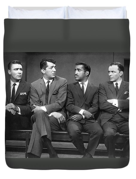 Ocean's Eleven Rat Pack Duvet Cover by Underwood Archives