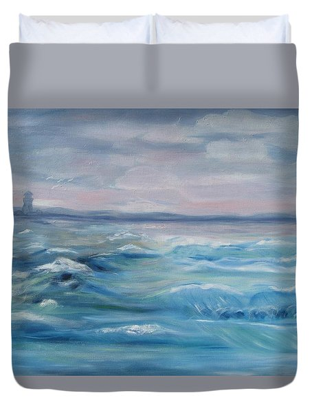 Oceans Of Color Duvet Cover by Diane Pape