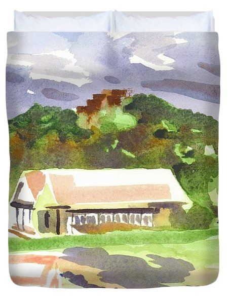 October Shadows at Fort Davidson Duvet Cover by Kip DeVore