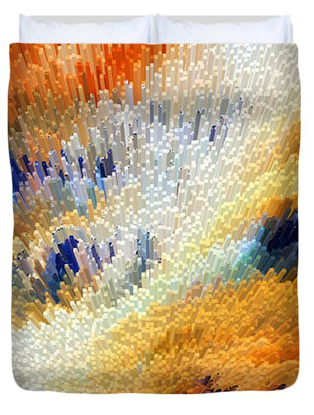 Odyssey - Abstract Art By Sharon Cummings Duvet Cover by Sharon Cummings