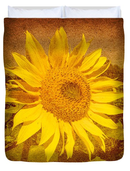 Of Sunflowers Past Duvet Cover by Bob Orsillo
