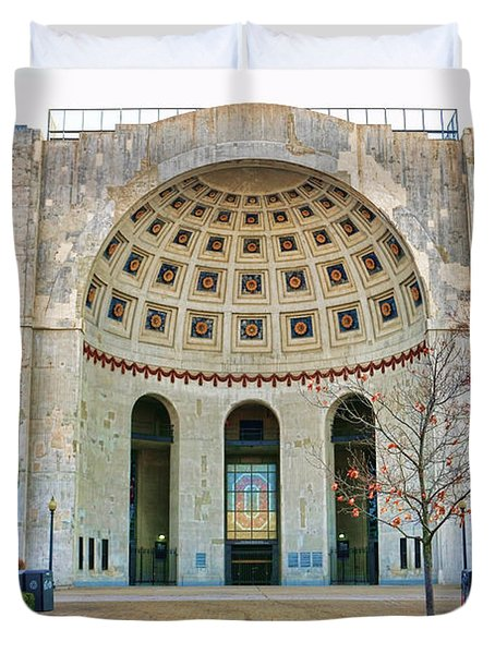Ohio Stadium Main Entrance 1672 Duvet Cover by Jack Schultz