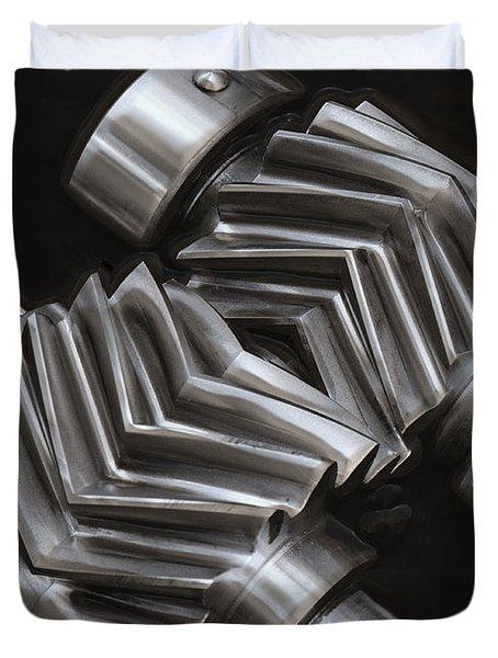 Oil Pump Gears Duvet Cover by Daniel Hagerman