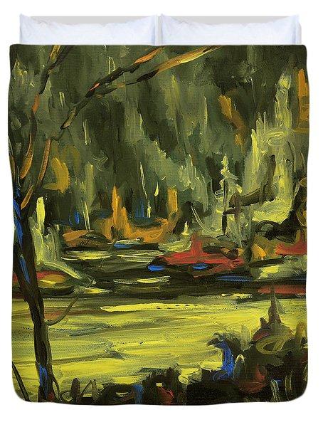 Okanagan Highlights By Prankearts Duvet Cover by Richard T Pranke