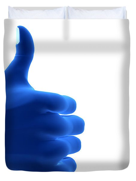 Okay Gesture Duvet Cover by Michal Bednarek