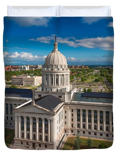 Oklahoma City State Capitol Building C Duvet Cover by Cooper Ross