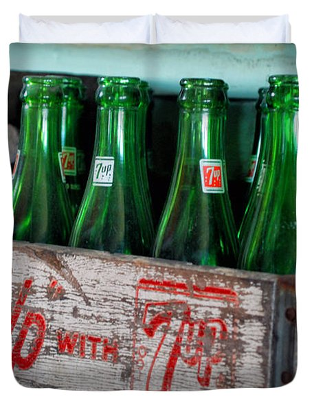 Old 7 Up Bottles Duvet Cover by Thomas Woolworth