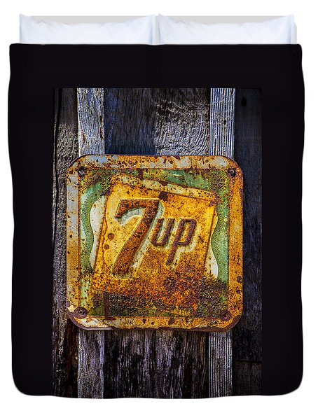 Old 7 Up Sign Duvet Cover by Garry Gay