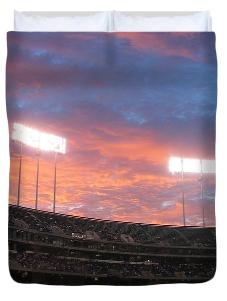Old Ball Game Duvet Cover by Photographic Arts And Design Studio