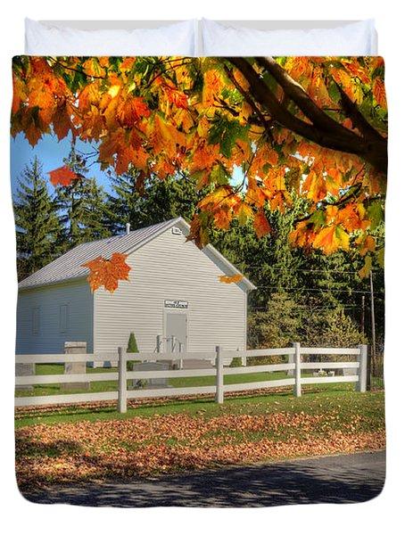 Old Bethel Church 1842 Duvet Cover by Dan Friend