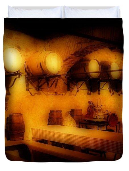 Old European Wine Cellar Duvet Cover by John Malone