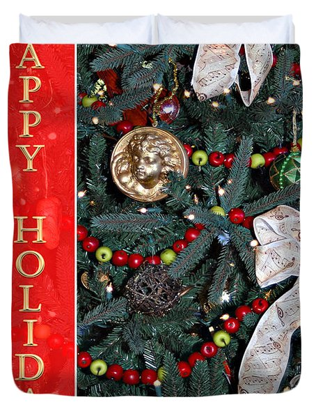 Old Fashioned Christmas Duvet Cover by Carolyn Marshall
